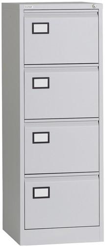 Dossierladenkast Triumph voorzien van 4-laden A4 en folio in de kleur grijs.