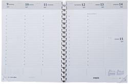 Agenda-inhoud 2019 Brepols Timing 7 dagen per 2 pagina's 17,5x22,5cm met spiraal wit papier (901109).