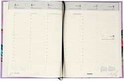 Agenda 2018 Brepols Timing Woody Ellen 7 dagen per 2 pagina's 17,5x22,5cm verticale kolommen omslag geïllustreerd creme papier.