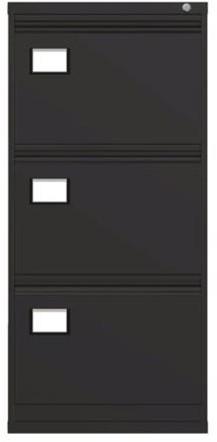 Dossierladenkast Triumph 3 laden kleur zwart ral 9005/TR3D.