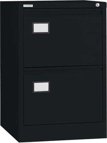 Dossierladenkast Triumph 2 laden kleur zwart ral 9005 TR2D.