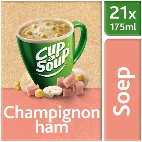 Unox Cup-a-Soup Sachets Champignon Ham 21  x 175 ml.