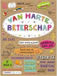 Wenskaart + envelop Artige collectie Maximaal formaat A4 opdruk: Van harte beterschap AT2006.