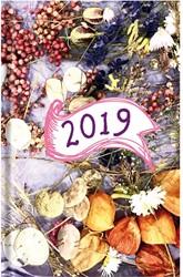 Agenda 2019 Ryam Weekplan 7 dagen per 2 pagina's 17x22cm omslag Lim Bohemian dessin 01 (droogbloemen) wit papier.