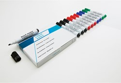 Whiteboard / flipover marker Smit Visual rond rood 5mm.