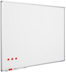 Whiteboard Smit-Visual emaile staal 30x45cm softline, incl. afleggoot en ophangmateriaal.