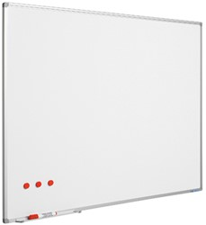 Whiteboard Smit-Visual emaille staal 90x120cm softline, incl. afleggoot en ophangmateriaal.