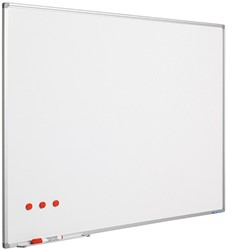 Whiteboard Smit Visual Softline emaille staal 30x45cm incl. afleggoot en ophangmateriaal.