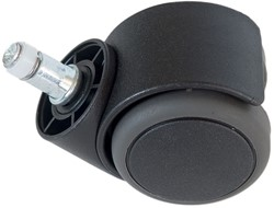 Wiel zacht tbv bureaustoel Rohde Grahl Ergonom/Ergowas rond 55 mm zwart.