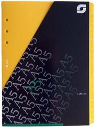 Tabkaarten Succes A5 1 t/m 12 geel XE200.